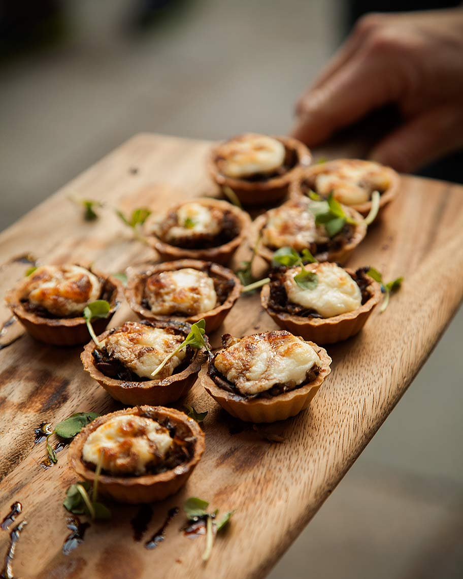 Cheese quiche bites - editorial food photography