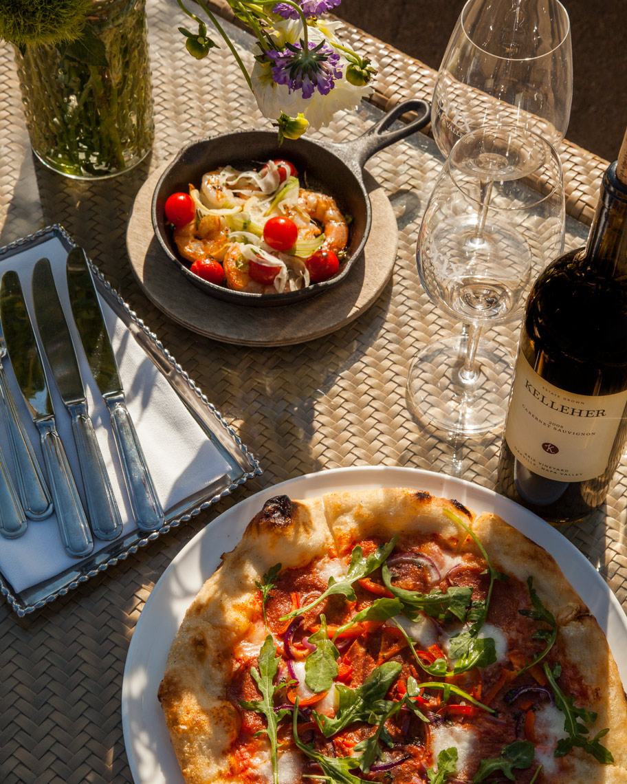 Casual Outdoor Dining - Napa Valley photographer Jason Tinacci